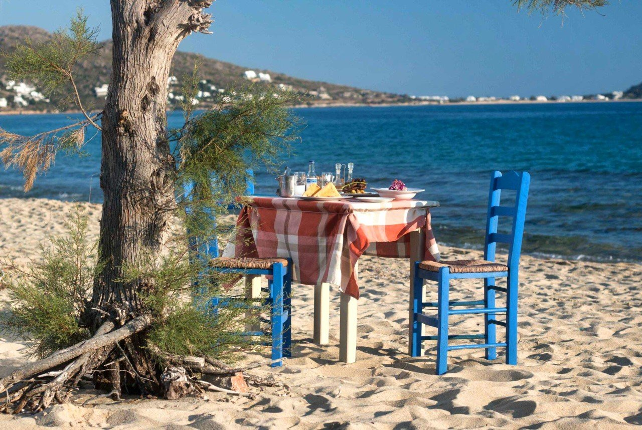 punto final pared Vivienda  Nikos and Maria Restaurant in Naxos, Plaka Beach